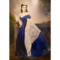 Classical Art Scarlett O hara by Helen Carlton Elisabeth Vigee Lebrun oil painting Hand painted office room decor Large