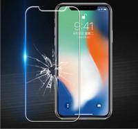 защитный экран для защиты от ударов tpu оптовых-500pcs 0.3 mm 9h закаленное стекло для iPhone взрывозащищенная защитная пленка для iphone 8 7 6s 5s se X XS MAX