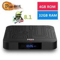 usb 265 venda por atacado-Mais novo M9S J1 Android 8.1 Tv Box Quad Core 4 GB 32 GB RK3328 2.4G Wi-fi H.265 USB 3.0 ott tv Media Player Melhor S905W A5X Max H96 MAX S905X2