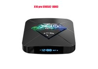 ingrosso android tv box pro 4k-Nuovo arrivo X10 pro Android 9.0 TV BOX R-TV BOX Amlogic S905X2 Quad-core 4GB / 32GB 4K H.265 2.4G / 5.8GWIFIB set top box Bluetooth intelligente