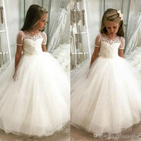 Wholesale girls wedding party pageant for sale - Group buy Flower Girl Dresses Ball Gown Communion Party Pageant Dress for Little Girls Kids Children Dress for Wedding