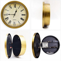 Wholesale safe clock for sale - Group buy Retro Roman Numerals Clock Safe Wall Mounted Hanging Hidden Storage Box