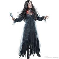 Wholesale vampire bride costume online - European And American Lady Halloween Ghost Bride Loss Of Costume Game Stage Vampire Devil Costume Theme Costume