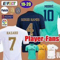 nuevos kits de fútbol para niños al por mayor-2019 Real Madrid HAZARD camisetas de fútbol EA SPORTS JERSEYS 18 19 20 Local Visitante MODRIC MARCELO 2020 Mariano VINICIUS JR KROOS ISCO ASENSIO RAMOS BALE MARCELO Kits Shirts