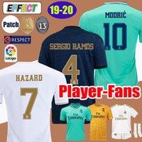 fan new jersey großhandel-Thai New Real Madrid Fußball Jerseys 19 20 GEFAHR MODRIC camiseta de fútbol Spieler Fans Version 2019 2020 BALE ISCO JAMES Fußballhemd Kinder