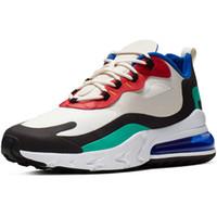beyaz ayakkabılar toptan satış-2019 Tasarımcı React Ayakkabı erkek Koşu Ayakkabıları Kadın Sneakers Eğitmenler Erkek Spor Atletik Üçlü Siyah Beyaz Yürüyüş Açık ayakkabı