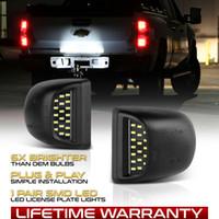 dekorativer chromschalter großhandel-1999-2013 Chevy Silverado Avalanche BRIGHT SMD LED Kennzeichenbeleuchtung Lampenset