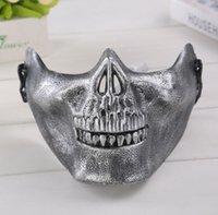 masques de combat achat en gros de-Moitié visage masque de protection pour Halloween crâne masque CS équipement de combat demi visage protecteur terreur masque crâne guerrier EEA515