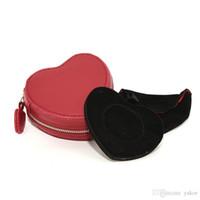 bracelets boîte pandora achat en gros de-arrivée de haute qualité rouge PU cuir en forme de coeur Boîte à bijoux pour Charms Pandora Bracelet boîtes originales
