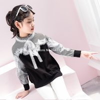 Wholesale white school girl shirt resale online - White Blouse For Girls Long Sleeve Girls School Blouses Lace Autumn Shirt For Kids Teen Winter Christmas Clothes Years