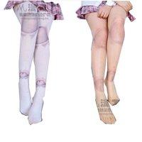 calças impressas tatuadas venda por atacado-Gothic Harajuku SD Bola Tattoo Joint Imprimir Meias meias-calça meias lolita meias