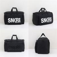 Wholesale water bag fitness resale online - Motion Fitness Handbag Basketball Bag Women And Men Gym Shoes Storage Wrap Water Proof Collapsible Black Nylon jb C1