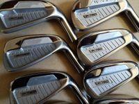 grafite, motorista, eixos venda por atacado-P760 Golf Irons Clubes De Golfe De Ferro P760 3-9.P 8 pcs Eixo De grafite De Aço Preto Motorista Fairway madeiras Híbrido Wedge Resgate Putter Set