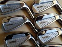 set de set de golf al por mayor-P760 Golf Irons Golf Clubs Hierro P760 3-9.P 8pcs Negro Acero Eje de grafito Conductor Fairway maderas Híbrido Cuña Juego de Putter de rescate