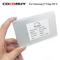 oca optik yapıştırıcı toptan satış-Novecel İÇİN Samsung Galaxy S7 Kenar G935 50pcs OCA Optik Temizle Yapışkan Gaodi MT Kawin YMJ OCA Tutkal LCD Dokunmatik Cam Lens Film