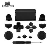 набор игровых приставок оптовых-Черный полный набор запасных частей кнопки для PlayStation 4 PS4 контроллер для SONY DUALSHOCK 4 контроллер