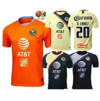 d9ca65622 2018 2019 Club de Futbol America home Soccer Jersey 18 19 Club de Futbol  America away Soccer Shirt Customized Mexico club football uniform