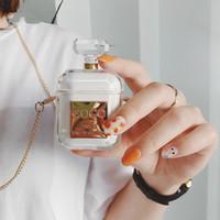 cubierta de auriculares bluetooth al por mayor-Botella de perfume cubierta de auriculares inalámbricos bluetooth para apple airpods de silicona de carga de auriculares auriculares accesorios