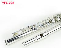 флейта yfl оптовых-Япония Марка Флейта 222 Белый медный музыкальный инструмент Флейта 17 отверстий E-Key C Tune Закрытый профессиональный Флейта Flauta трансверсальный бесплатный Shippi