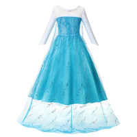 Wholesale canvas clothing sale for sale - Group buy Clearance sale Princess girl blue Dress Up Clothes Girl with Long Cloak Pageant Ball Gown Kids Deluxe Fluffy Bead Halloween Party AA191119