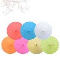 şemsiye sahne toptan satış-Boyama Boş Kağıt Şemsiye Gelin Düğün Şemsiye Çocuk El Yapımı Sahne Performansı Prop Kağıt Şemsiye Dekorasyon Zanaat TTA1565