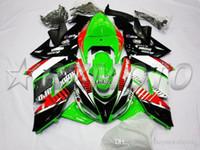 ingrosso kawasaki zx6r 1998 carena bianca-3Gifts nuovo ABS carenature del motociclo bici kit di misura per Kawasaki Ninja ZX10R ZX10R 2006 2007 06 07 carrozzeria impostata carena rosso verde bianco nero