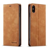 deri çantalar toptan satış-IPhone X Xs XR Xs Max için Kılıf Kapak PU Deri Lüks Cüzdan Kapak iphone 6 s 7 8 Artı PU Deri Kılıf