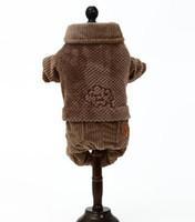 ingrosso cuccioli di orsacchiotto-Teddy Bear VIP Bomei Small Puppy Elk Christmas Dress Pet addensato vestito autunno e inverno a quattro zampe