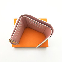 Fashion Women Wallet Classic Woman Short Wallets Coated Canvas With Real Leather Small Bifold Wallets With Coin Pocket