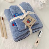 toallas de baño para niños al por mayor-Patrón creativo Dos piezas de juegos de toallas, niños, adultos, moda, confort, felpa, toalla, dos piezas, toalla de natación simple