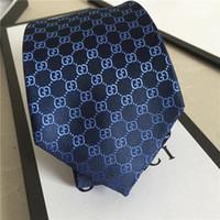 bağ hediye toptan satış-2019 Yeni en kaliteli moda kravat 7.0 cm lüks erkek kravat üst tasarımcı ipek jakarlı papyon, düğün iş kravat hediye kutusu ambalaj