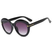 Wholesale frame word online - T Word Sun Glasses Female Sandy Beach Eyewear Men Sun Shading Spectacles Ultraviolet Proof Black Gray Hot Sales pl C1