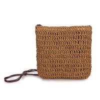 ingrosso borse vacanza-Mini borsa a tracolla Piccola borsa a tracolla intrecciata a mano in coreano moda giapponese Borsa a tracolla intrecciata a mano per donna