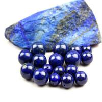 perlas de lapis de 12mm al por mayor-Lote 4 mm / 6 mm / 8 mm / 10 mm / 12 mm / 14 mm Lapislázuli azul piedra redonda granos espaciados para DIY joyería que hace accesorios