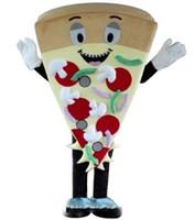vizyon maskot kostümleri toptan satış-Gerçek vizyon yetişkin fotoğraf gerçek pizza maskot kostüm satılık yetişkin gıda maskot kostüm
