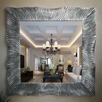 europäischer badspiegel großhandel-European American Kosmetikspiegel Bad Modell Kosmetikspiegel Tisch Quadrat Badezimmerwand dekorative Spiegel Bad WC Artikel