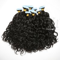 VMAE Remy Virgin Natural Tape In Human Hair Extension 100g Afro Kinky Curly body water Deep wave straight 3B 3C 4B 4C