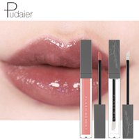 розовая маска для губ оптовых- 2018 Sexy Pink Nude Liquid Women Lip Stick Waterproof Long Lasting 2pcs Matte Clear Lip Gloss Set#