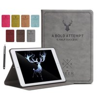 Wholesale Retro D Deer Pattern PU Leather Case For iPad Mini inch Magnetic Stand Holder Flip Cover For iPad Mini