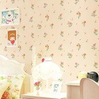 ingrosso rotolo pieno di carta da parati-3d stereo romantici pastorali carta da parati rullo di soggiorno camera da letto camera da sposa piena di sfondo murales non tessuti floreali europee