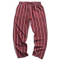 calça de suor folgado venda por atacado-2019 Hip Hip Homens Calça Basculador Retro Vintage Stripe Harajuku Folgado Sweatpant Streetwear Calças Harém Calças de Fato de Treino Vermelho Fino