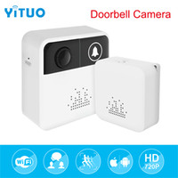 Wholesale video peephole night vision online - Wireless Doorbell Intercom Two Way Audio Outdoor P Video Surveillance IP Camera Night Vision Peephole Ring Bell Monitor Viewer YITUO