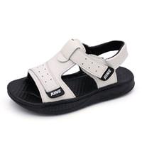 sapatas de borracha dos meninos do bebê venda por atacado-Meninos Sandálias de Verão Crianças Sapatos para Sandálias Menino de Couro Genuíno Da Criança Sapatos de Bebê de Borracha Macia Inferior