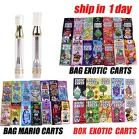 Wholesale oils resale online - New Exotic Carts with Box Packaging Mario Carts Vape Cartridges AC1003 gold ml Ceramic Coil for Thread Vape pen Thick Oil at196