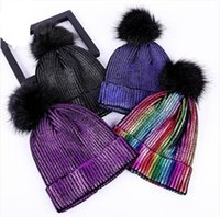 Wholesale blank beanies for sale - 2019 new beanie Knitted Bright Beanies  winter hat for women 78fc1183e41