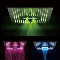 regenschauer farben groihandel-3 Funktionen 16-Zoll-Fernbedienung 64 Farbwechsel Led Licht Big Rain Misty Wasserfall Einbau Deckenmontage Duschkopf