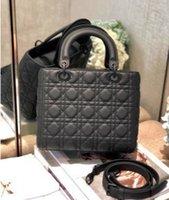ingrosso stella sacchi grigi-2019 del progettista dhm1998 del sacchetto di spalla delle donne di modo delle signore dello shopping Frosted grigio cinque griglia
