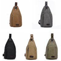 Wholesale canvas military shoulder bags resale online - Mens Messenger Bags Casual Outdoor Travelling Hiking Sports Canvas Bags Males Shoulder Bag Military Messenger Bag chest bags FFA2964