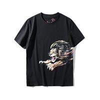 ingrosso camicia di stampa di leone-marchio stilista regalo per uomo abbigliamento t-shirt leone stampa animalier maglietta ricamo lettera t-shirt manica corta magliette in cotone