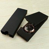 wrist watch gift box оптовых-Коробка для часов Часы Дисплей Упаковка Аксессуары Подарочная коробка Наручные часы Складная упаковка Box Черный 17x6x2.3cm ZC0232